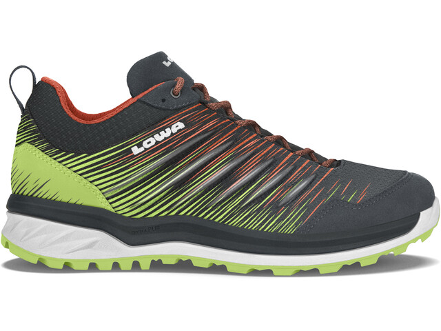 Lowa Lynnox Chaussures à tige basse Homme, anthracite/lime